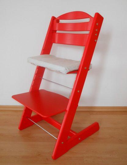 Dětská židlička Jitro Baby červená