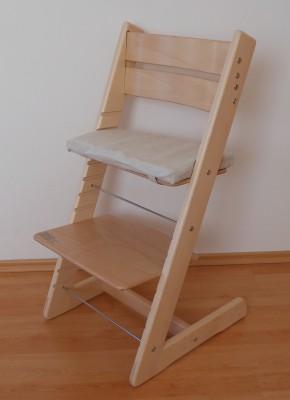 Rostoucí židle Jitro Klasik přírodní lakovaná
