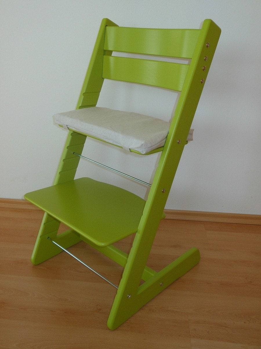 Dětská rostoucí židlička Jitro Klasik světle zelená