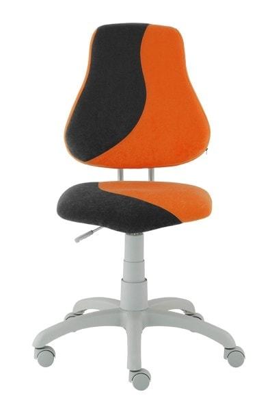 Dětská rostoucí židle Fuxo S-Line oranžová/černá