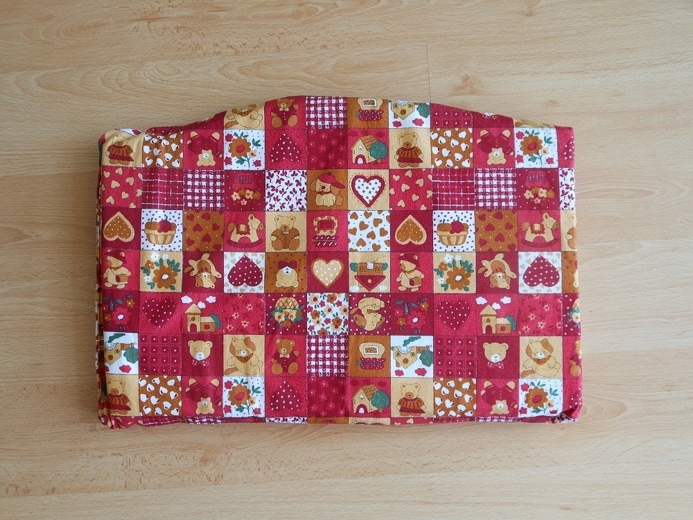 Jitro Samostatný sedák - Červený patchwork