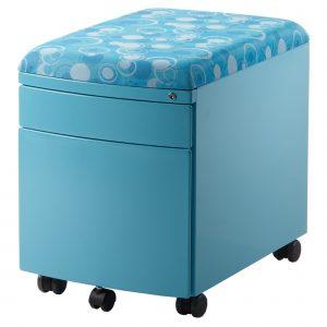 Kovový kontejner Amadeus modrý.