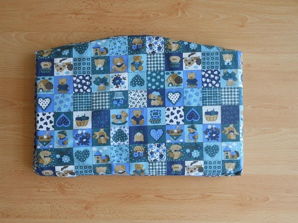 Jitro Samostatný sedák - Modrý patchwork
