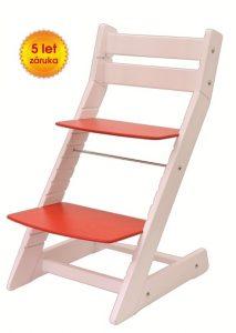 Rostoucí židle Mony - bílá / červená