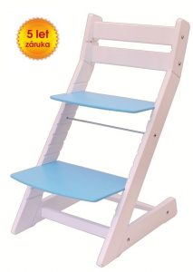 Rostoucí židle Mony - bílá / modrá