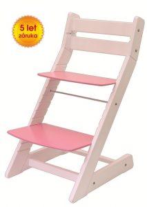Židle Mony bílo růžová