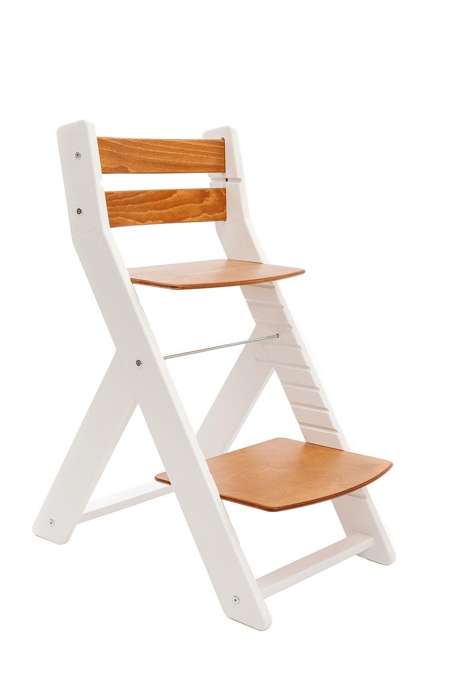 Wood Partner Rostoucí židle Mony - bílá / sedák třešeň