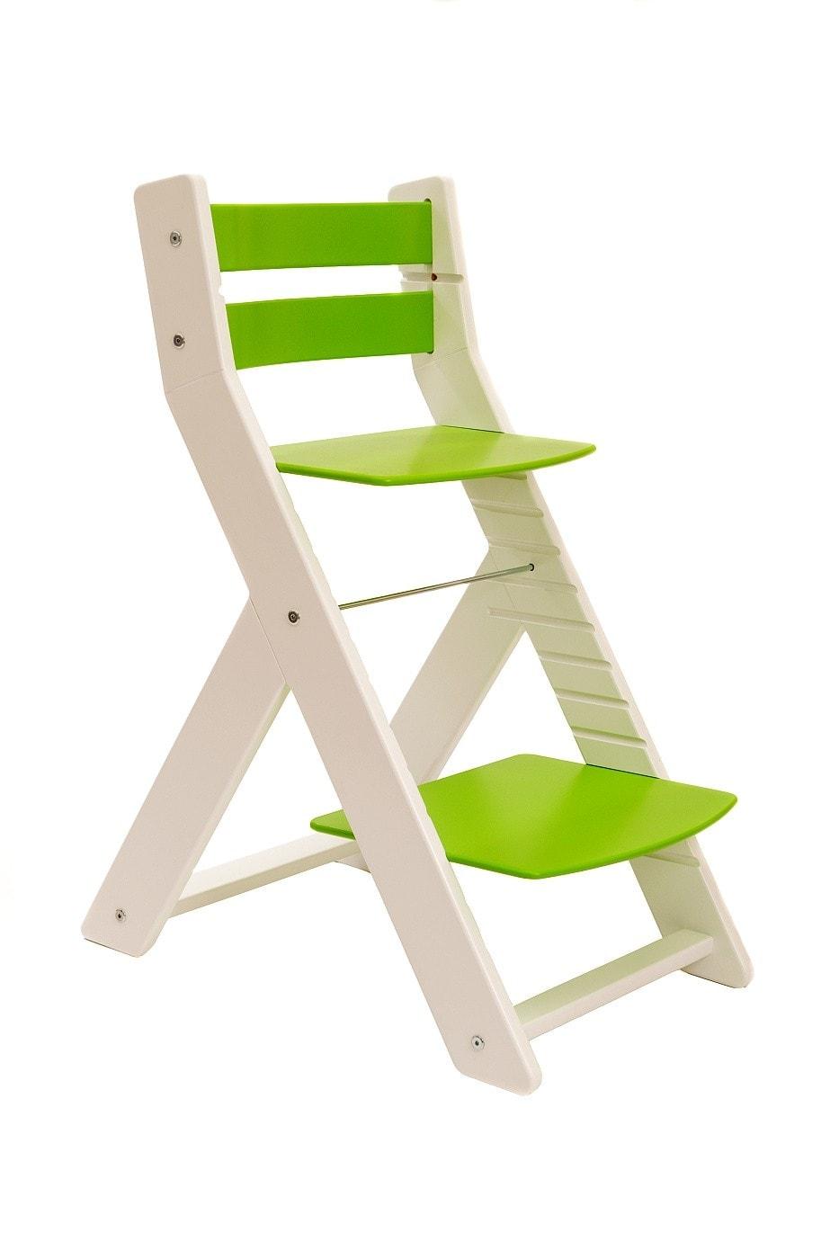 Wood Partner Rostoucí židle Mony - bílá / zelená