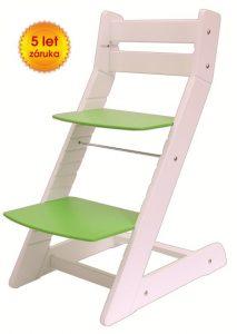 Rostoucí židle Mony - bílá / zelená