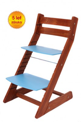 Rostoucí židle Mony - třešeň / modrá