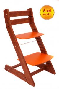 Rostoucí židle Mony - třešeň / oranžová