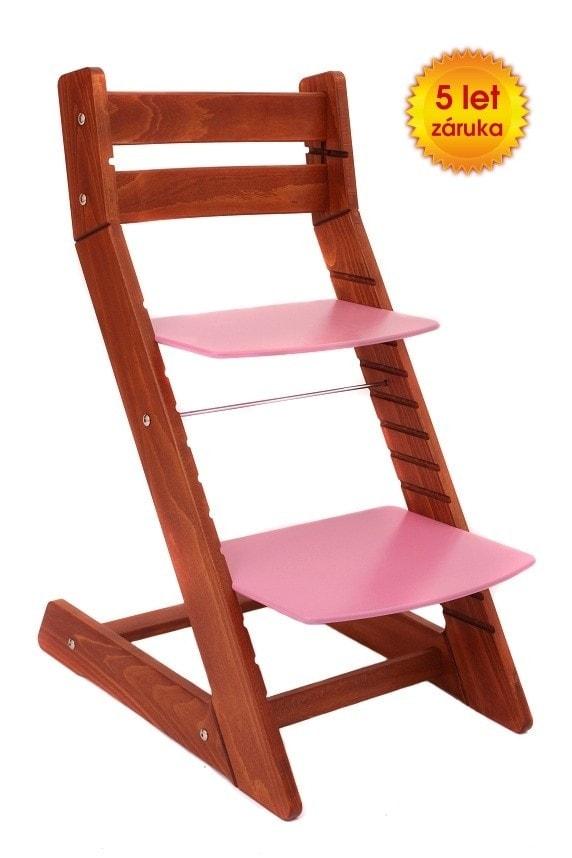 Wood Partner Rostoucí židle Mony - třešeň / růžová
