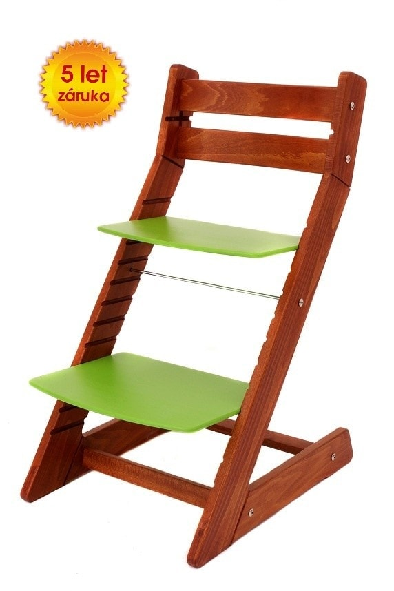 Wood Partner Rostoucí židle Mony - třešeň / zelená