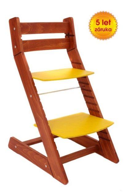 Rostoucí židle Mony - třešeň / žlutá