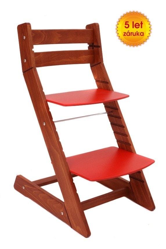 Rostoucí židle Mony - třešeň / červená