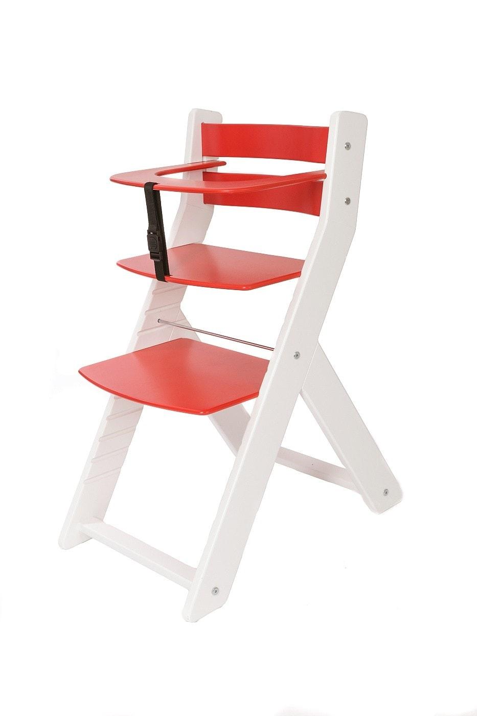 Wood Partner Rostoucí židle Unize bílá / červená