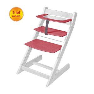 Rostoucí židle Unize bílá / červená