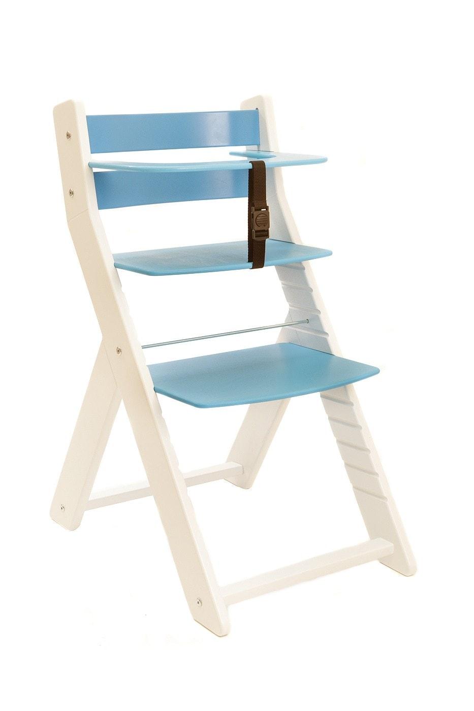 Wood Partner Rostoucí židle Unize bílá / modrá