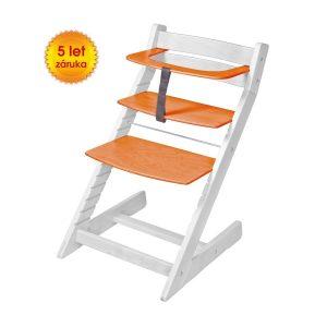 Rostoucí židle Unize bílá / oranžové