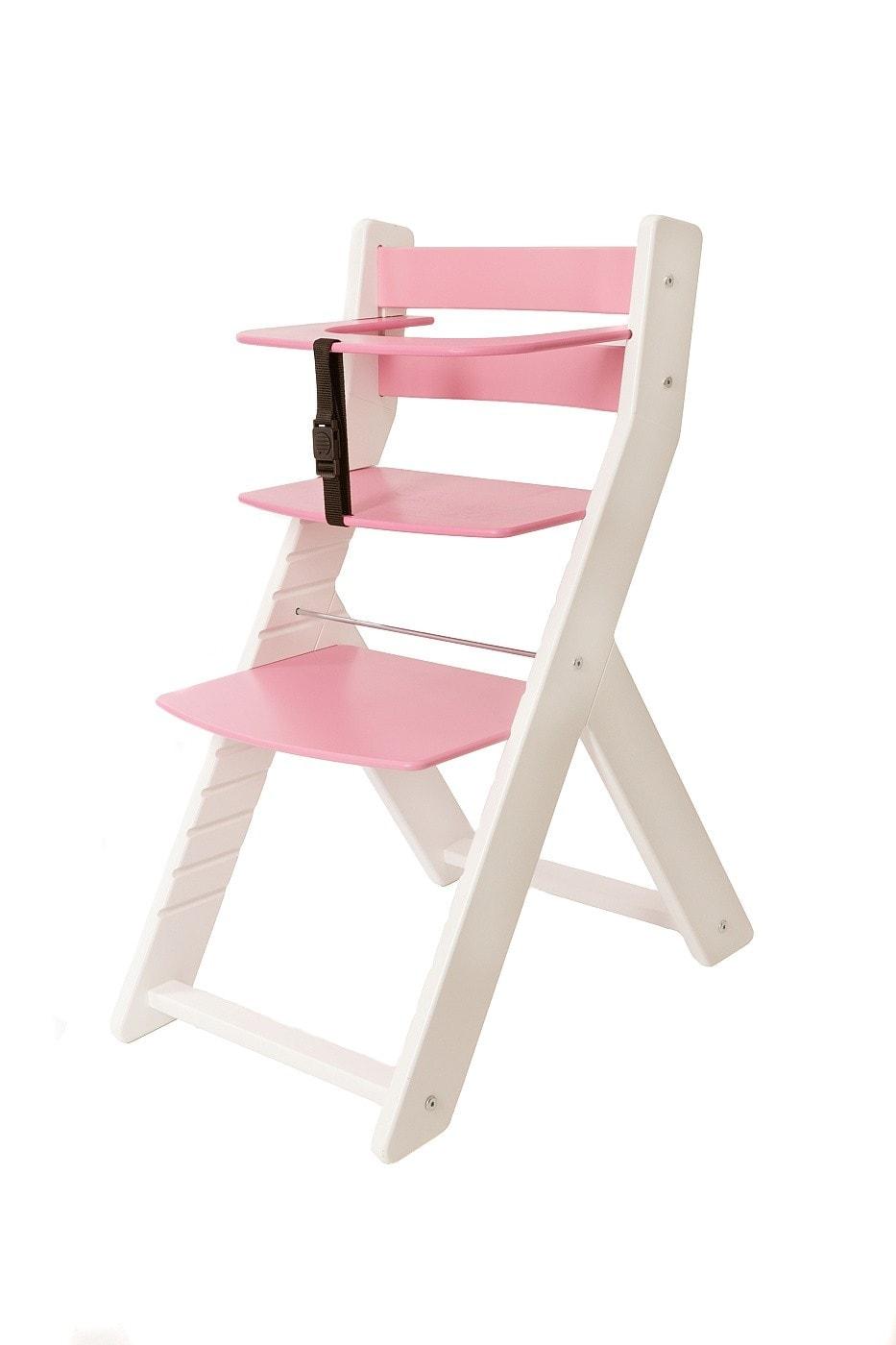 Wood Partner Rostoucí židle Unize bílá / růžová