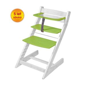 Rostoucí židle Unize bílá / zelená