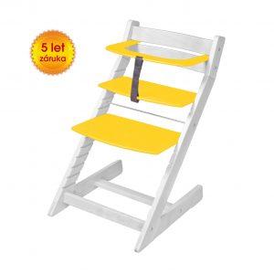 Rostoucí židle Unize bílá / žlutá