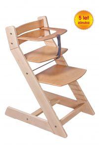 Rostoucí židle Unize přírodní