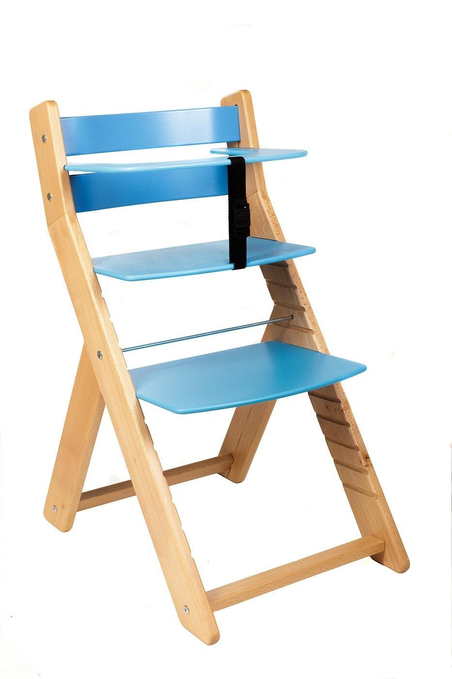 Wood Partner Rostoucí židle Unize přírodní lak / modrá