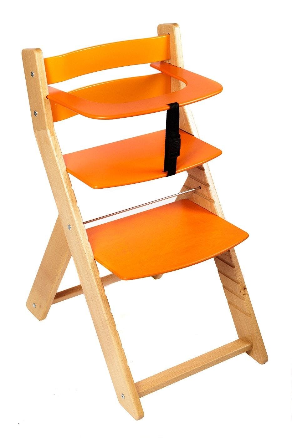 Wood Partner Rostoucí židle Unize bílá / oranžová