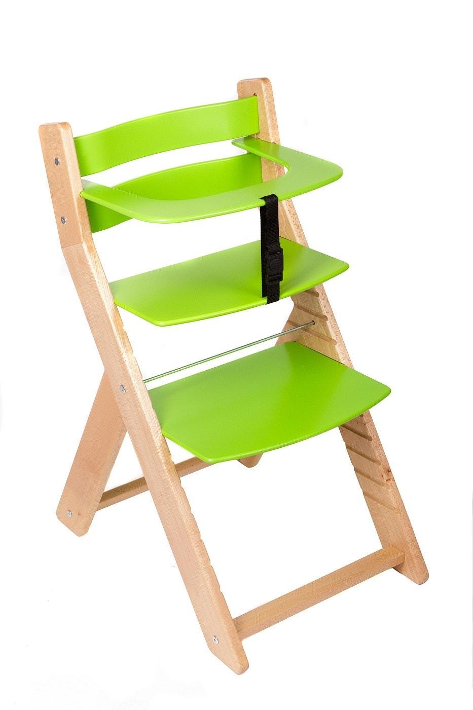 Wood Partner Rostoucí židle Unize přírodní lak / zelená