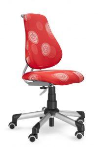 Židle Actikd A2 červený polyester