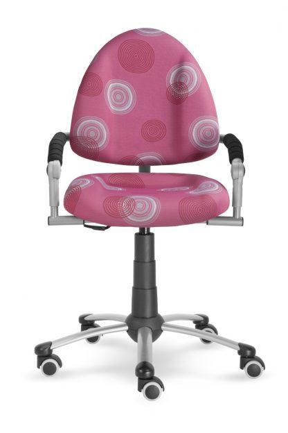 Rostoucí židle Freaky růžová s kruhy