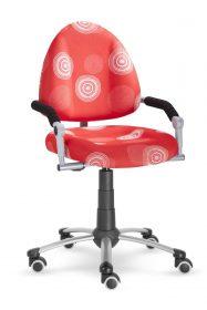 Rostoucí židle Freaky červená polyester