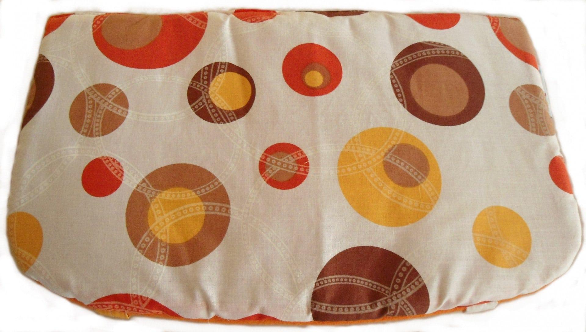 Sedák pro židle Mony i Unize - Oranžový s kruhy