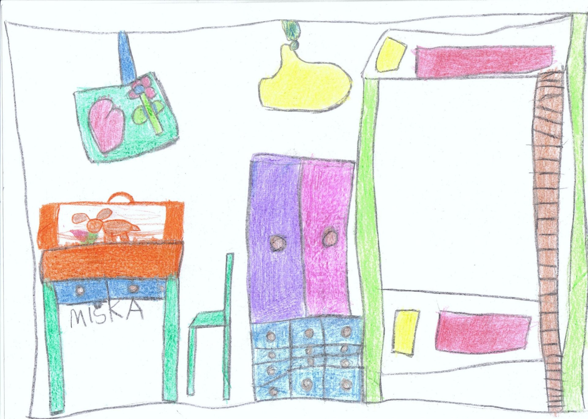 Vysnená izba 5 ročnej Mišky