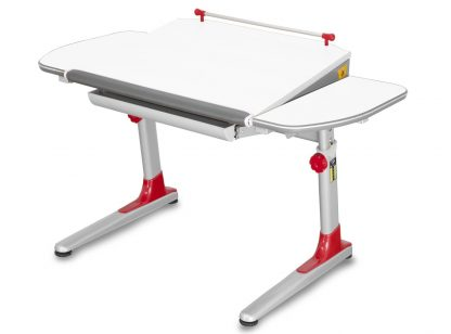 Stůl Profi 3 bíly s červenými plasty