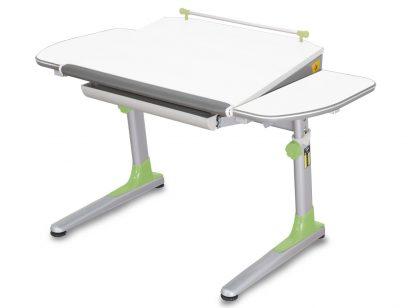 Bílý stůl Mayer Profi 3 se zelenými doplňky