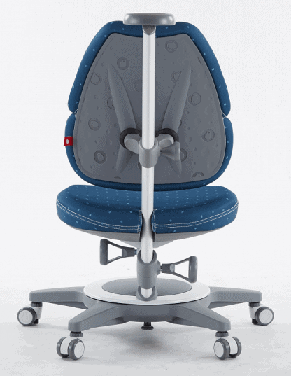 Rostoucí židle Laura modrá zadní pohled