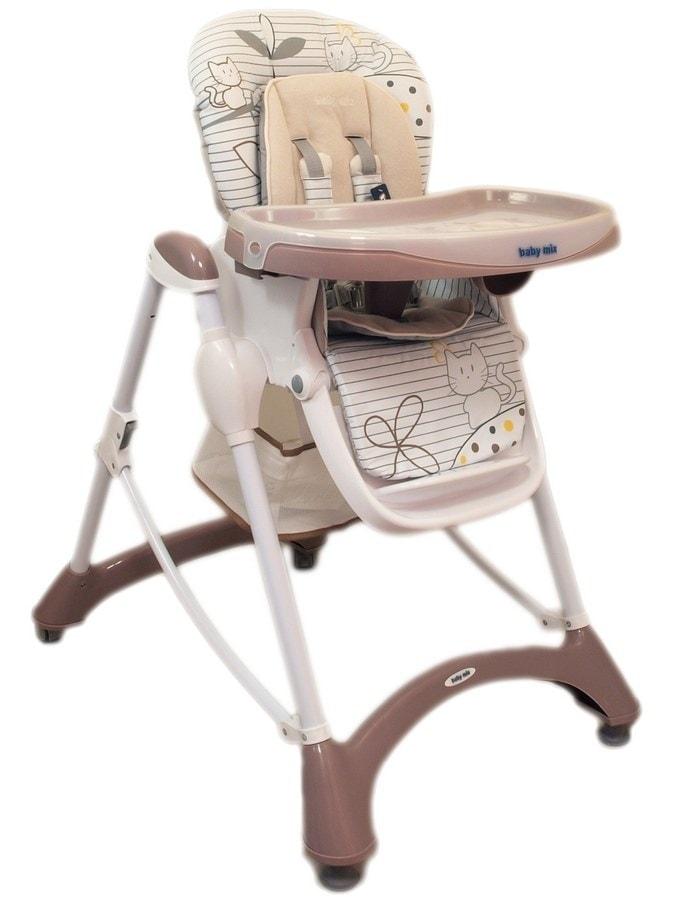 Jídelní židlička Baby Mix latte