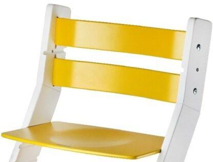 Rostoucí židle Sandy - bílá / žlutá - detail
