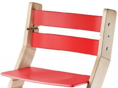 Rostoucí židle Sandy natur lak / červená - detail
