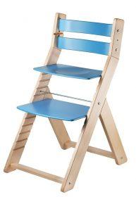 Židle Sandy natur / modrá