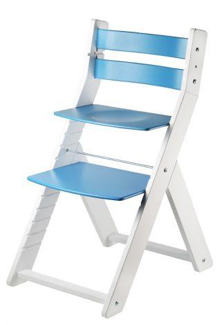 Židle Sandy bílá / modrá
