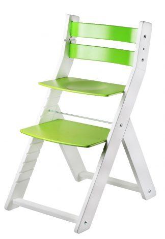 Rostoucí židle Sandy bílá / zelená