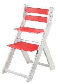 Rostoucí židle Sandy - bílá / červená