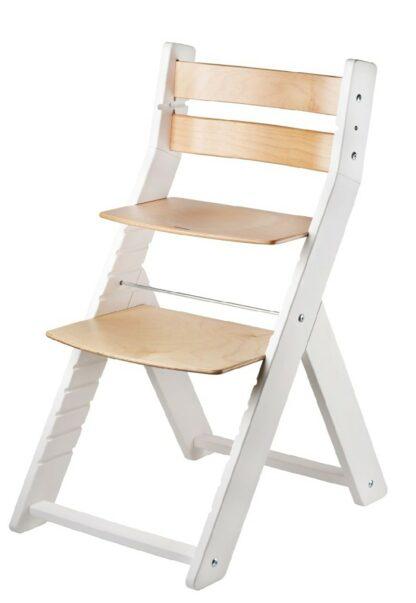 Rostoucí židle Sandy - bílá / natur lak