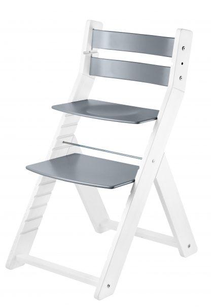 Rostoucí židle Sandy - bílá / šedá