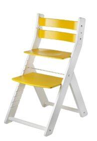Rostoucí židle Sandy - bílá / žlutá