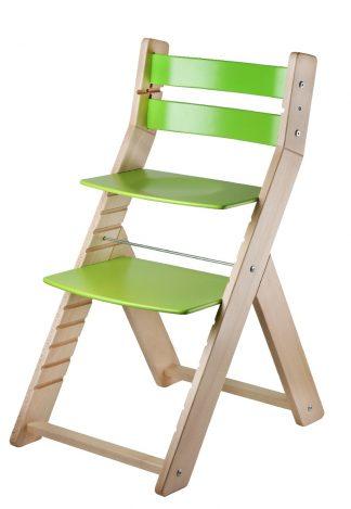 Rostoucí židle Sandy natur / zelená