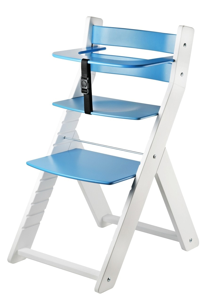 Wood Partner Rostoucí židle Luca - bílá / modrá